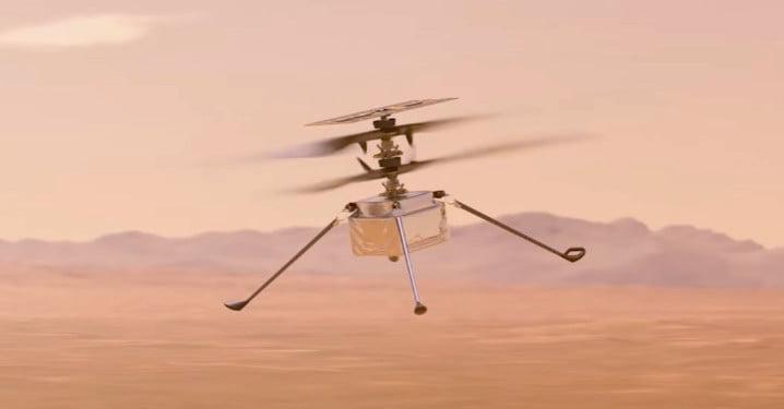 Une vidéo de la NASA montre le premier vol historique de l'hélicoptère martien.